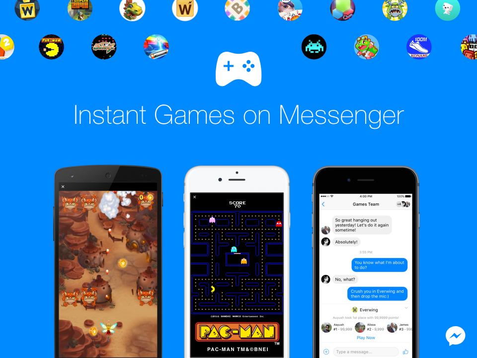 Bermain games di facebook messenger