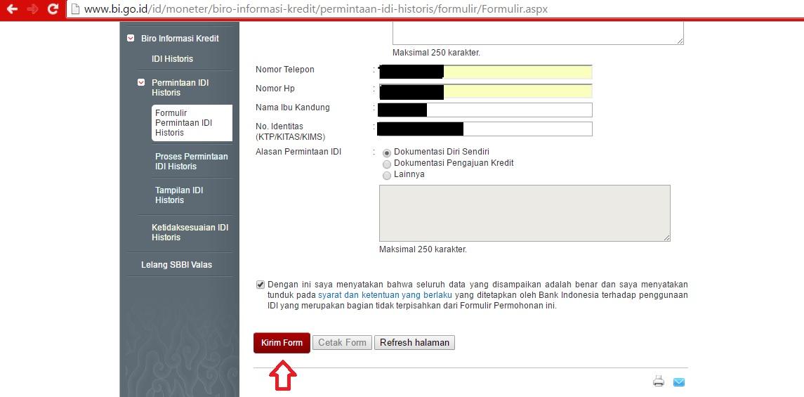 Cara Cek Sendiri BI Checking Secara Online 2